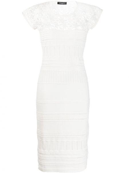 Хлопковое платье миди - белое Frankie Morello