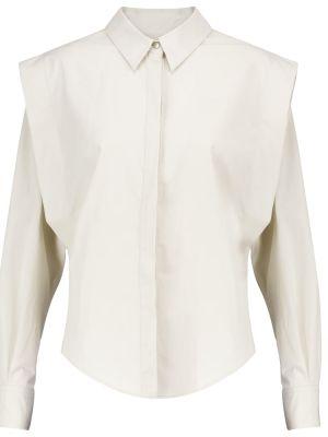 Хлопковая белая рубашка для офиса Isabel Marant