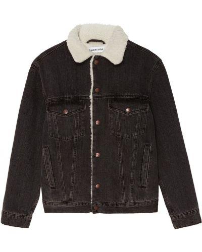 Утепленная куртка джинсовая с карманами Balenciaga