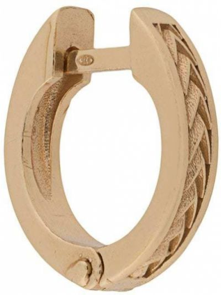 Золотистое кольцо металлическое золотое с декоративной отделкой Emanuele Bicocchi
