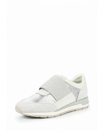 Серые замшевые кроссовки Geox