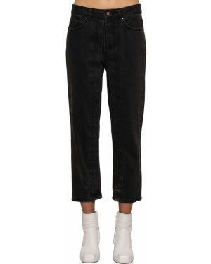 Czarne jeansy boho Aalto