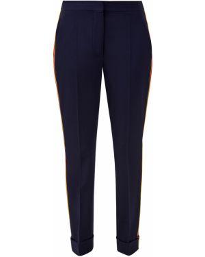 Шерстяные классические брюки - синие Stella Mccartney