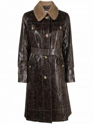 Коричневое пальто из полиэстера Rejina Pyo