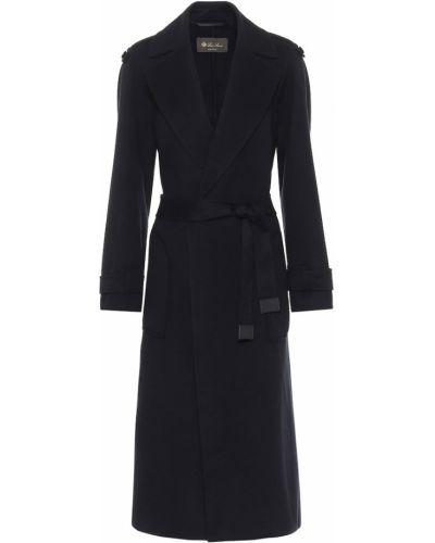Черное кашемировое пальто Loro Piana