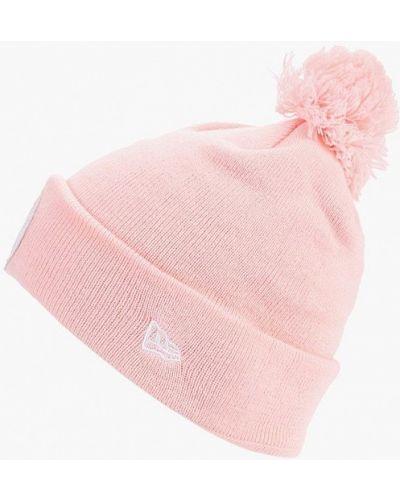 Розовая шапка осенняя New Era