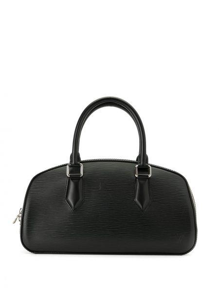 Черная дорожная сумка круглая на молнии с карманами Louis Vuitton