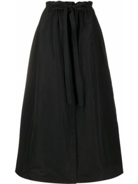 Klasyczna czarna spódnica midi z wysokim stanem Givenchy