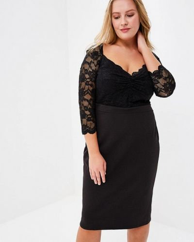 Черное платье Goddiva Size Plus