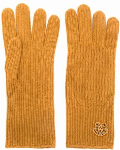 Rękawiczki wełniane - żółte Kenzo