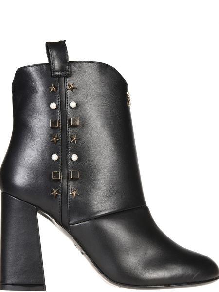 Кожаные ботинки осенние на каблуке Patrizia Pepe