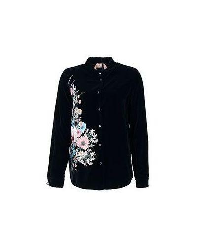 Бархатная черная рубашка No.21