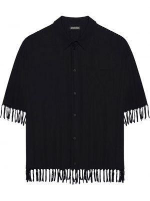 Рубашка с коротким рукавом - черная Balenciaga