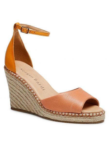 Sandały espadryle - różowe Sergio Bardi