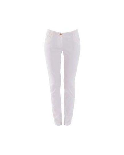 Белые джинсы-скинни Class Cavalli