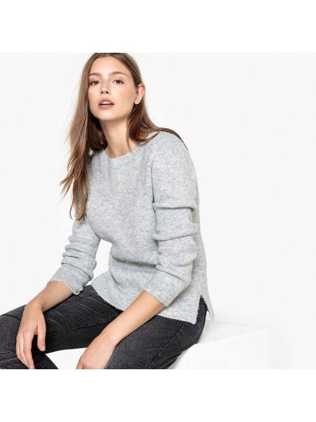 С рукавами пуловер из мохера с жемчугом с вырезом Sud Express