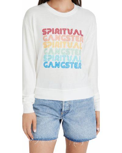 Облегающий свитшот с длинными рукавами из вискозы Spiritual Gangster
