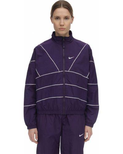 Фиолетовая куртка с вышивкой с воротником Nike