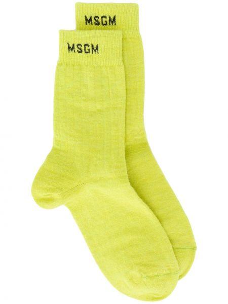 Зеленые носки из альпаки Msgm