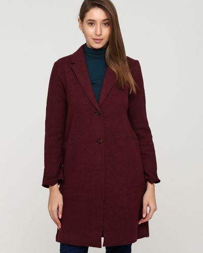 Красное пальто на пуговицах Broadway