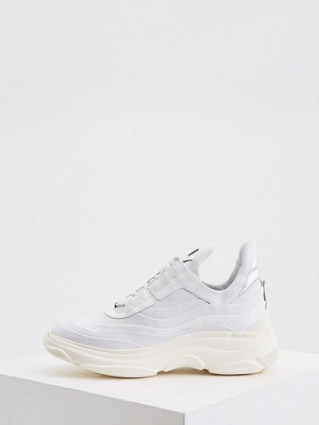 Белые кроссовки из натуральной кожи Hogl