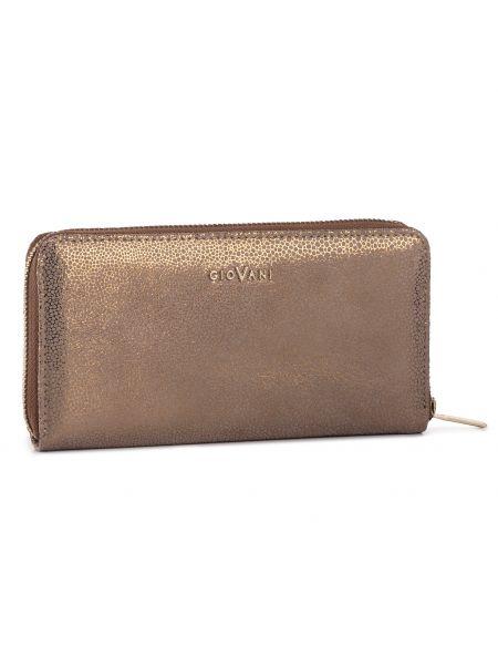 Złoty portfel - brązowy Giovani