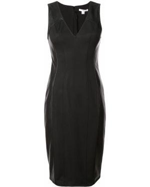 Платье с V-образным вырезом - черное Zac Zac Posen
