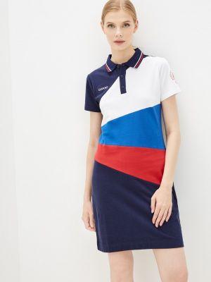 Синее весеннее платье Zasport