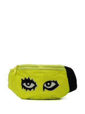 Желтая парусиновая поясная сумка с помпоном на молнии Haculla