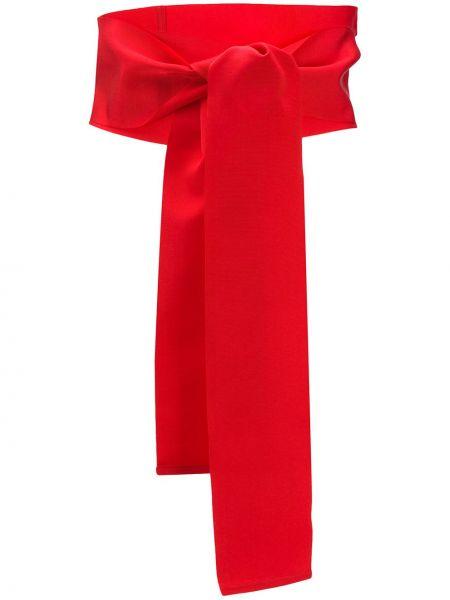 Красный ремень с поясом с запахом с завязками Sara Roka