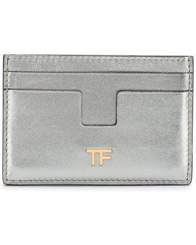 Кожаный кошелек мини с логотипом Tom Ford