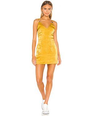 Платье на молнии сатиновое Superdown