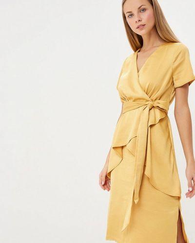 Вечернее платье осеннее желтый Lost Ink.
