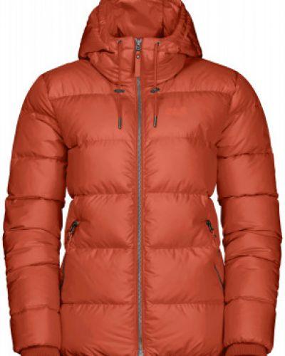 Оранжевая пуховая куртка на молнии Jack Wolfskin