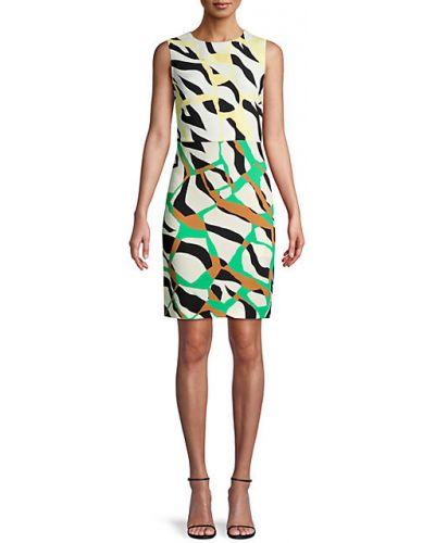 Платье-футляр без рукавов из вискозы стрейч Roberto Cavalli