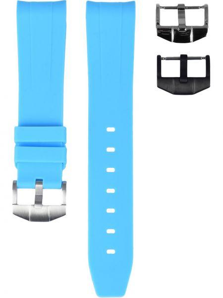 Niebieski sport zegarek srebrny Horus Watch Straps