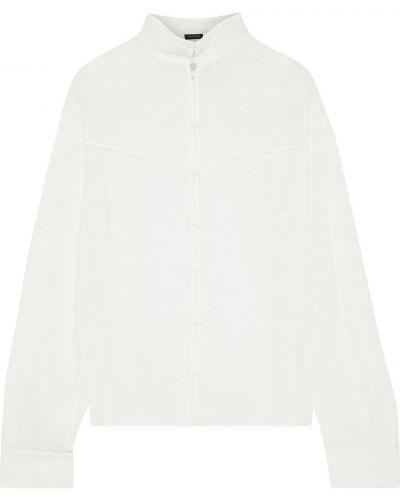 Biała koszula z wiskozy zapinane na guziki Rag & Bone