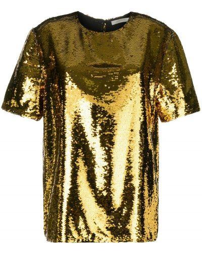 Блузка с коротким рукавом с пайетками короткая Amen.