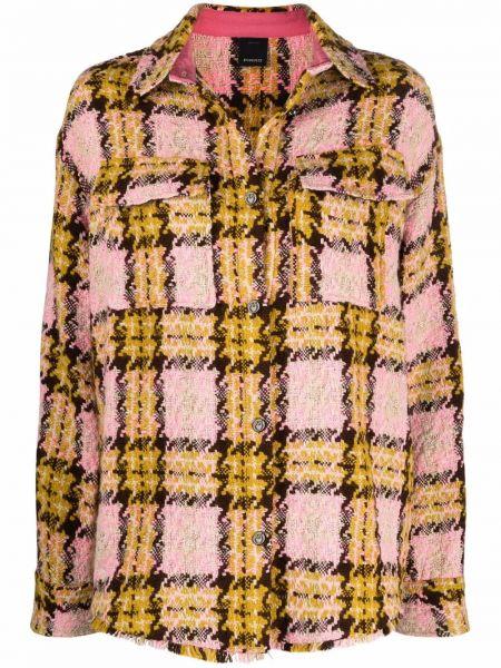 Желтая длинная куртка Pinko