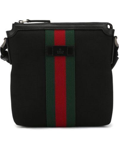 Черная сумка текстильная Gucci