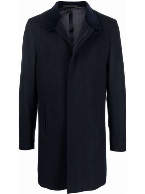 Синее пальто длинное Karl Lagerfeld