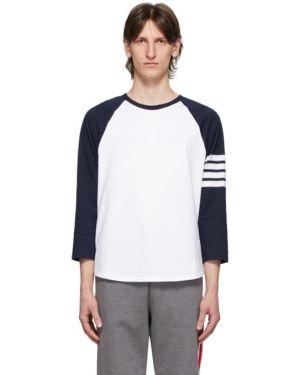 Koszula z paskami z logo Thom Browne