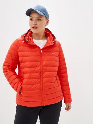 Оранжевая демисезонная куртка Tommy Hilfiger
