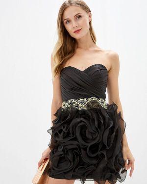 Вечернее платье осеннее черное Amour Bridal