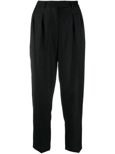 Czarne spodnie z wysokim stanem wełniane A.p.c.
