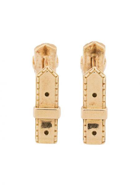 Запонки золотые винтажные Hermes
