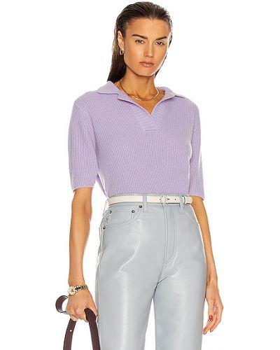 Текстильная фиолетовая рубашка с декольте The Elder Statesman