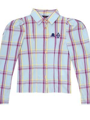 Ватная синяя кожаная рубашка The Animals Observatory
