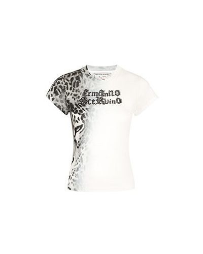 Хлопковая белая футболка Ermanno Scervino