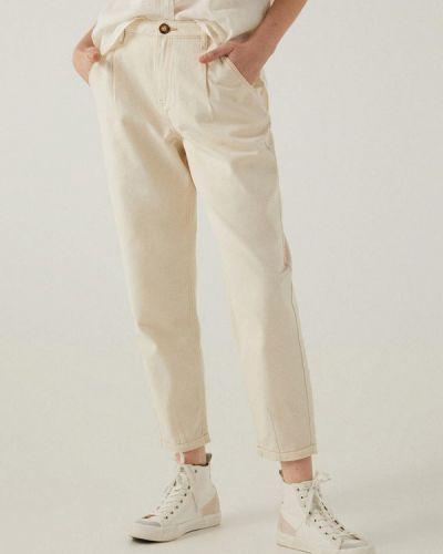 Повседневные бежевые брюки Springfield